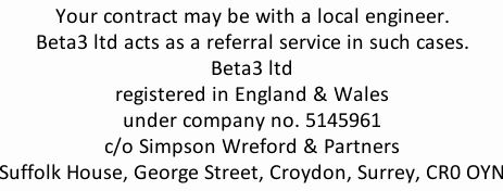 contact info: london drain cleaning engineers Beta3 ltd Company Registration 05145961 Registered Office: Beta3 ltd c/o Simpson Wreford, Suffolk House, George St, Croydon, Surrey, CR0 0YN